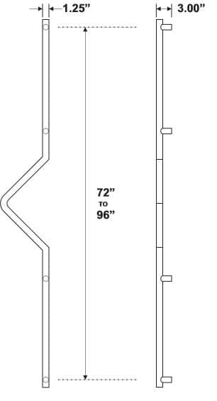 Rockwood RM2030 Door Pull Product Specs