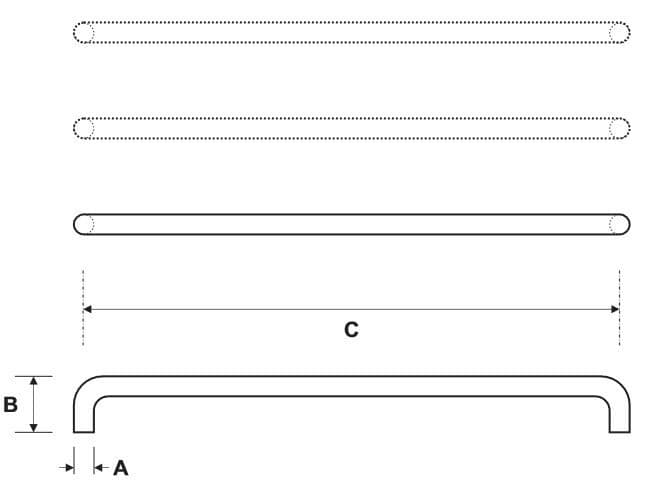 Rockwood RM350 Push Bar Product Specs
