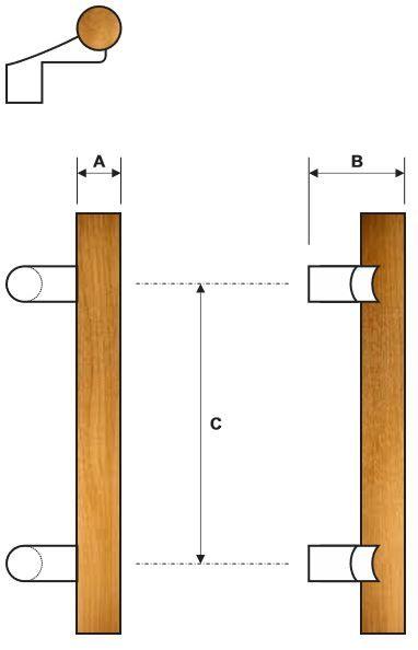 Rockwood RM4130 Door Pull Product Specs
