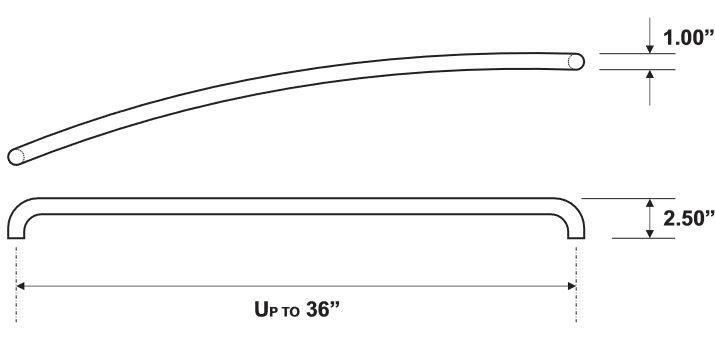 Rockwood RM4440 Push Bar Product Specs