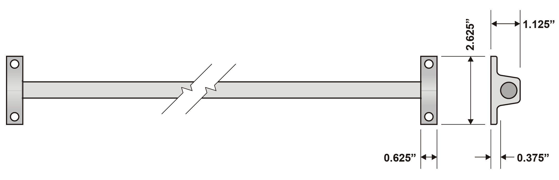 Rockwood 42 Single Bar Screen Door Guard Trademark Hardware
