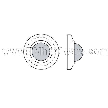 Rockwood Solid Cast Door Stop With Convex Bumper